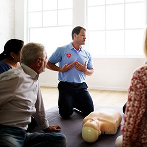 First Aid - Trainer speaking to class